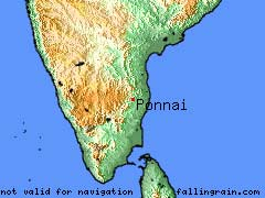 Valli Malai (Ponnai, India) mercator projection